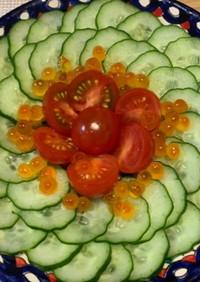 さっぱり副菜用の胡瓜サラダ