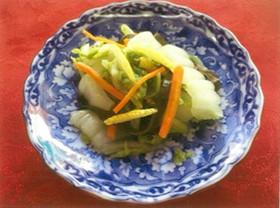 白菜の彩りゆずすし酢漬け