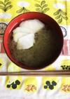 ウドとトロロ昆布の塩スープ