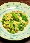 ボリューム満点・栄養豊富、牛肉ニラ玉炒め