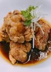 鶏モモ肉唐揚げ 黒酢ソース