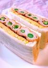 アスパラの肉巻き串カツでサンドイッチ