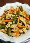 味付け簡単、茎わかめと豚こまの炒め煮。