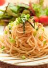 和風たらこパスタ⁂麺つゆで簡単に