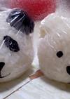 パンダとクマ♪動物キャラ弁