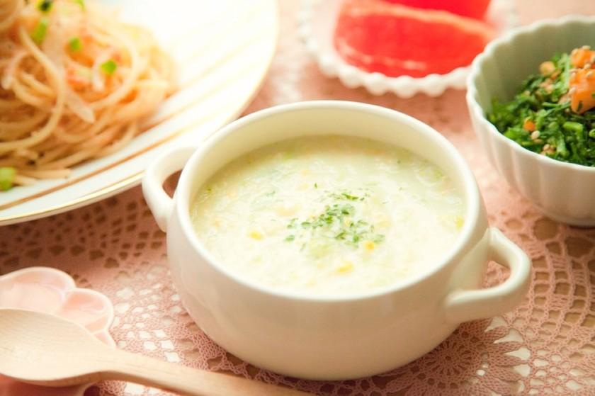 白菜とコーンのポタージュ⁂野菜たっぷり