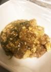 鶏肉と豆腐のすき焼き風煮込み