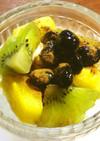 黒酢黒豆&フルーツ&アイス+シナモン