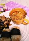 ミョウガと豆腐の味噌汁