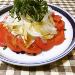 さっぱり☆新たまねぎとトマトのサラダ