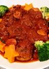 子供大好きトマト煮込みハンバーグソース♥