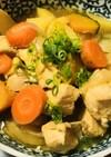 鶏肉の肉じゃが風あまから生姜煮込み