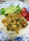 麻婆豆腐の素で肉味噌☆ジャージャー麺風♪