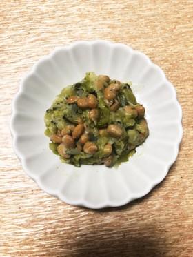 離乳食の副菜に!納豆とキャベツのだし和え