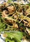 水菜と豚肉の味噌炒め