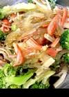 カニカマとブロッコリーの春雨サラダ