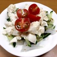 豆腐と新玉ねぎのサラダ