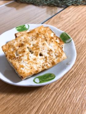 こんがりバター麺つゆ焼き豆腐