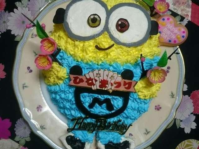 ミニオン ケーキ キャラ 立体ケーキ