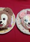 ダッフィー&シェリーメイ ケーキ立体