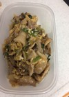 小松菜と豚肉の中華風卵炒め