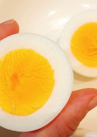 レンジで簡単!ゆで卵(固ゆで&半熟)