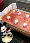 ヨーグルトチーズケーキ、いちごジャム入り