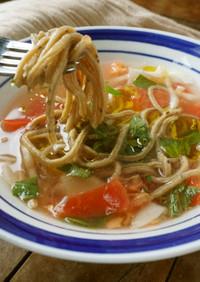 ハーブ香るトマトのスープパスタ