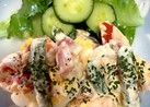 超簡単♪冷凍アスパラとツナトマトサラダ