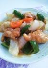 レンジで時短!鶏肉と野菜の甘酢炒め♪