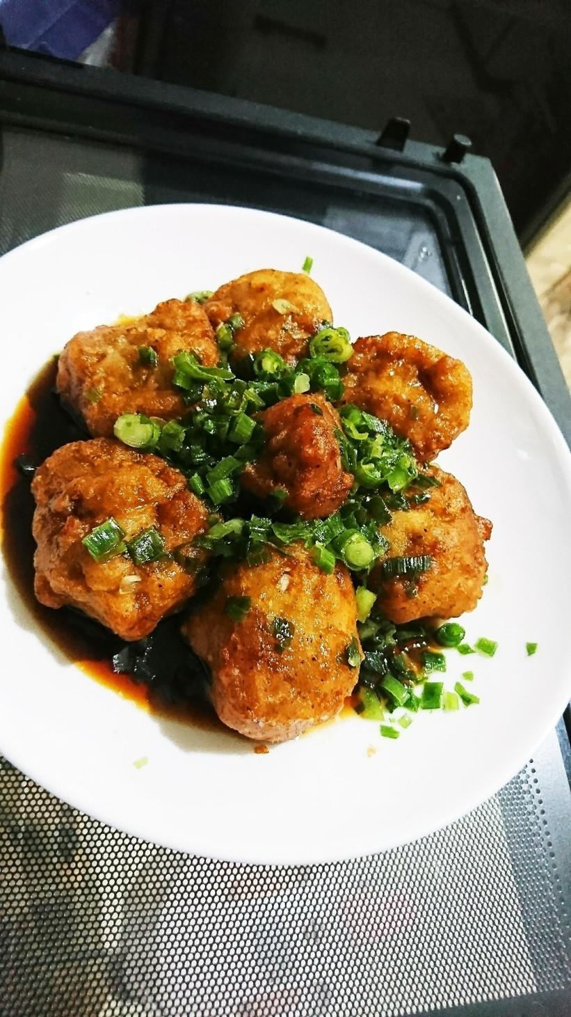 冷凍唐揚げで✨油淋鶏(ユーリンチー)風