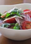 ハムと三つ葉とトマトのサラダ