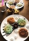 チョコミントとプレーンのパンケーキ