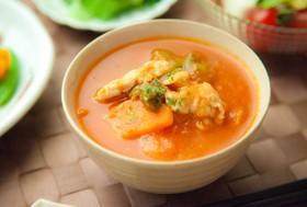 トマ豚汁⁂ヘルシー野菜の食べるスープ