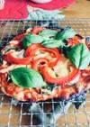 クルミ生地のクリスピーピザ