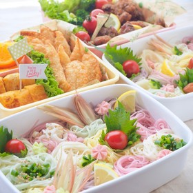 時短!運動会弁☆暑い日も乗り切る素麺弁当