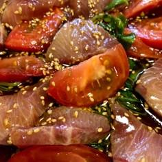 ブリと豆苗のカルパッチョ