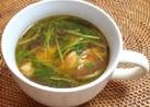 パクチーと手羽元のスープ
