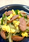 玉葱ウインナー卵の炒め物