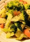ブロッコリー&スプラウトの温野菜サラダ