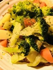 ブロッコリー&スプラウトの温野菜サラダの写真