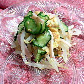 きゅうりともやしの中華風サラダ