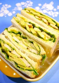 簡単!甘辛☆照り焼きサラダチキンサンド