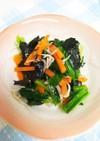 小松菜としらすの海苔ナムル♪