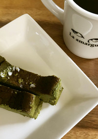 バスク風 抹茶チーズケーキ ◉簡単材料