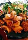 豚肩ロースと茄子の生姜焼き