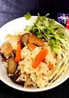 ☆鶏&ゴボウの炊き込みご飯☆