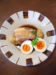 かき醤油ぽん酢のさっぱり煮豚の写真