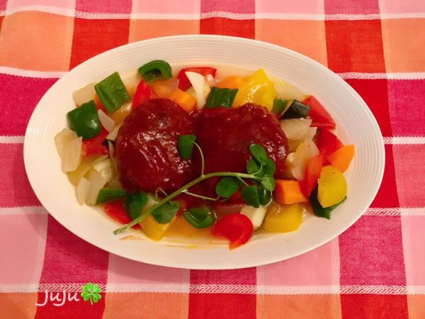 煮込みハンバーグ&野菜のスープ煮