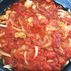 鶏モモ肉のトマト煮